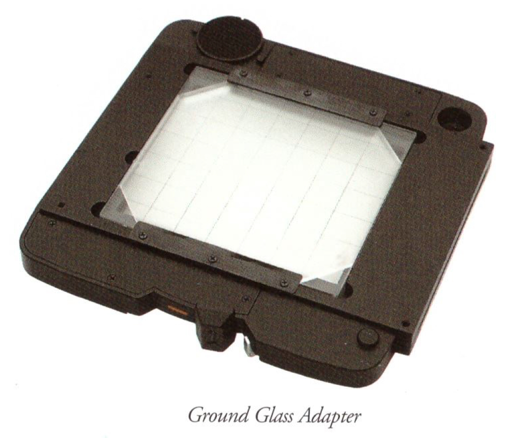 SX701 Ground Glass Adapter (Image from the Mamiya documentation)