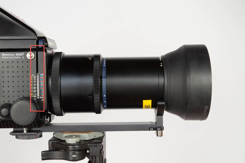 Mamiya Z 350 / Z 360 lens support bracket