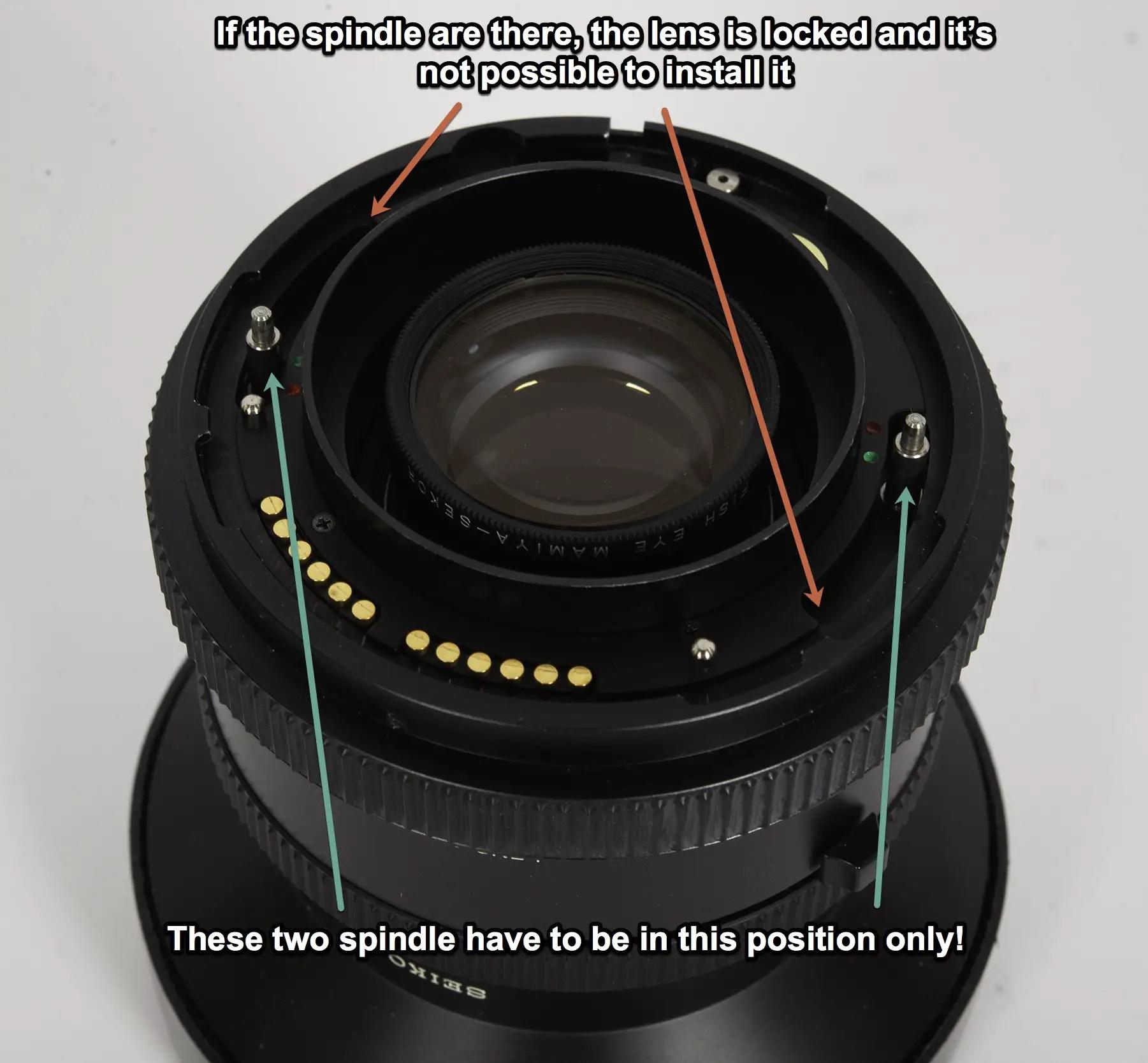 Mamiya RZ67 lens already cocked