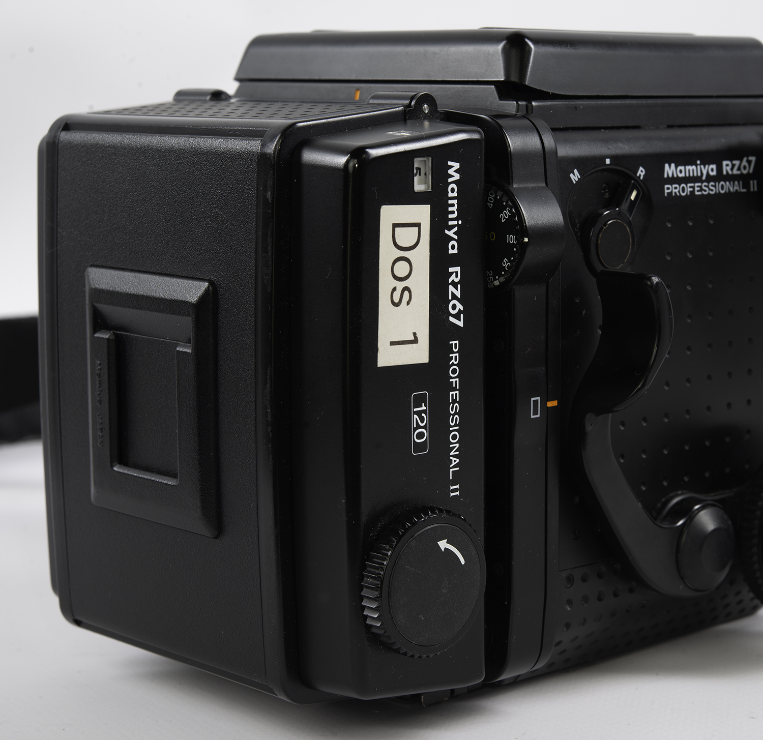 Mamiya RZ67 film back in portrait orientation