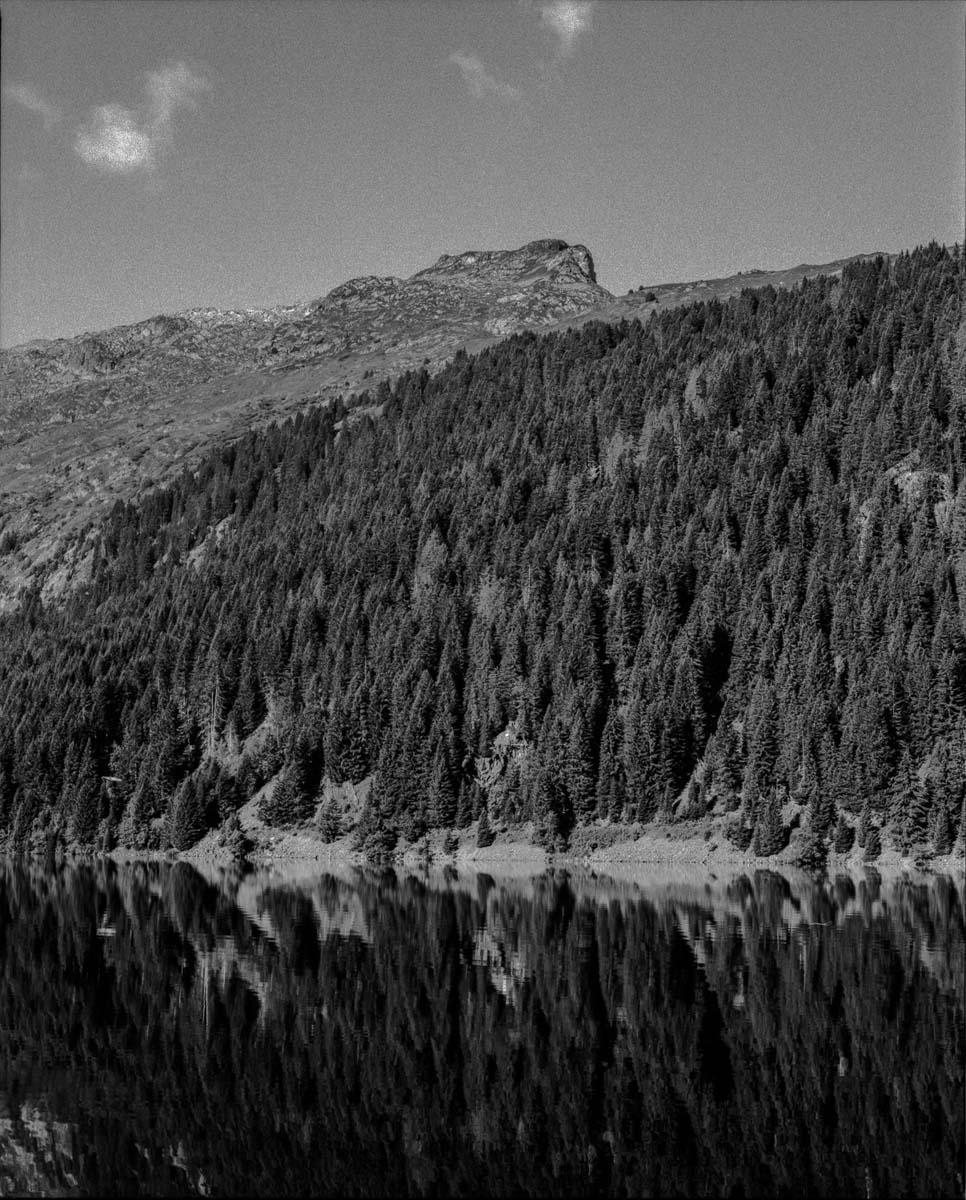 Mamiya RZ67 Professional - 250mm, ILFORD FP4 PLUS, Lac de St Guérin (Haute Savoie)