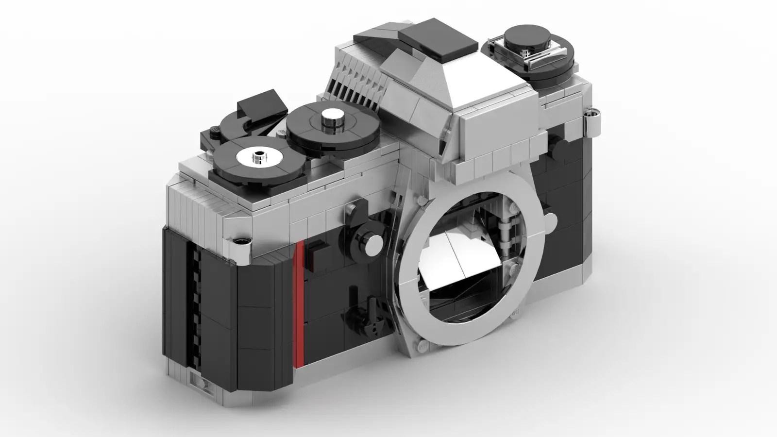 LEGO Nikon F3: Front left (Credit: Ethan Brossard)