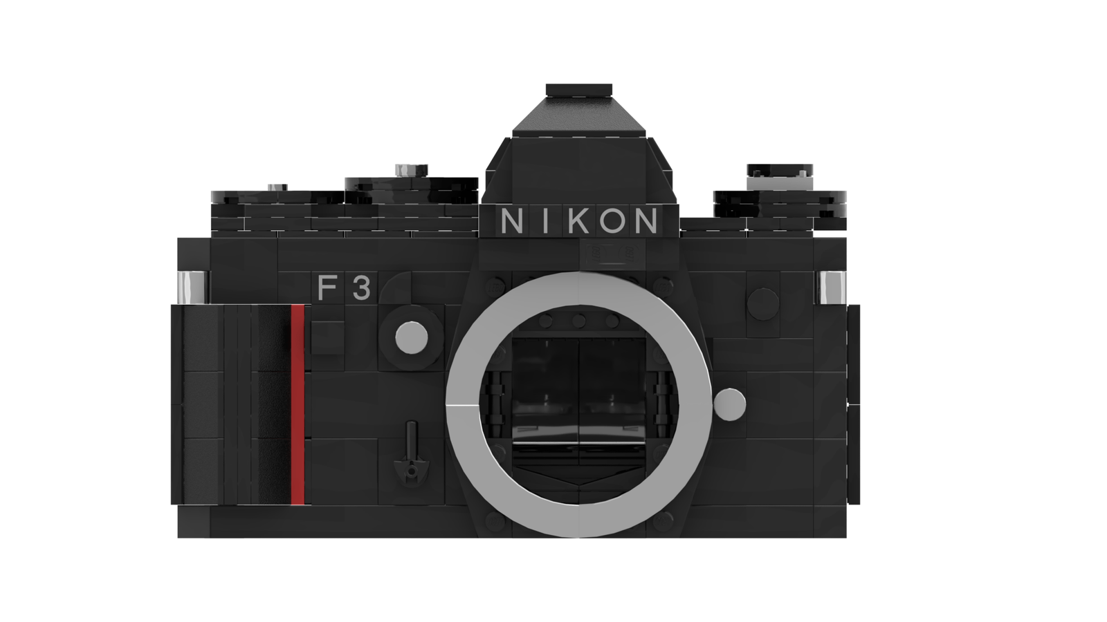 LEGO Nikon F3: Front (Credit: Ethan Brossard)