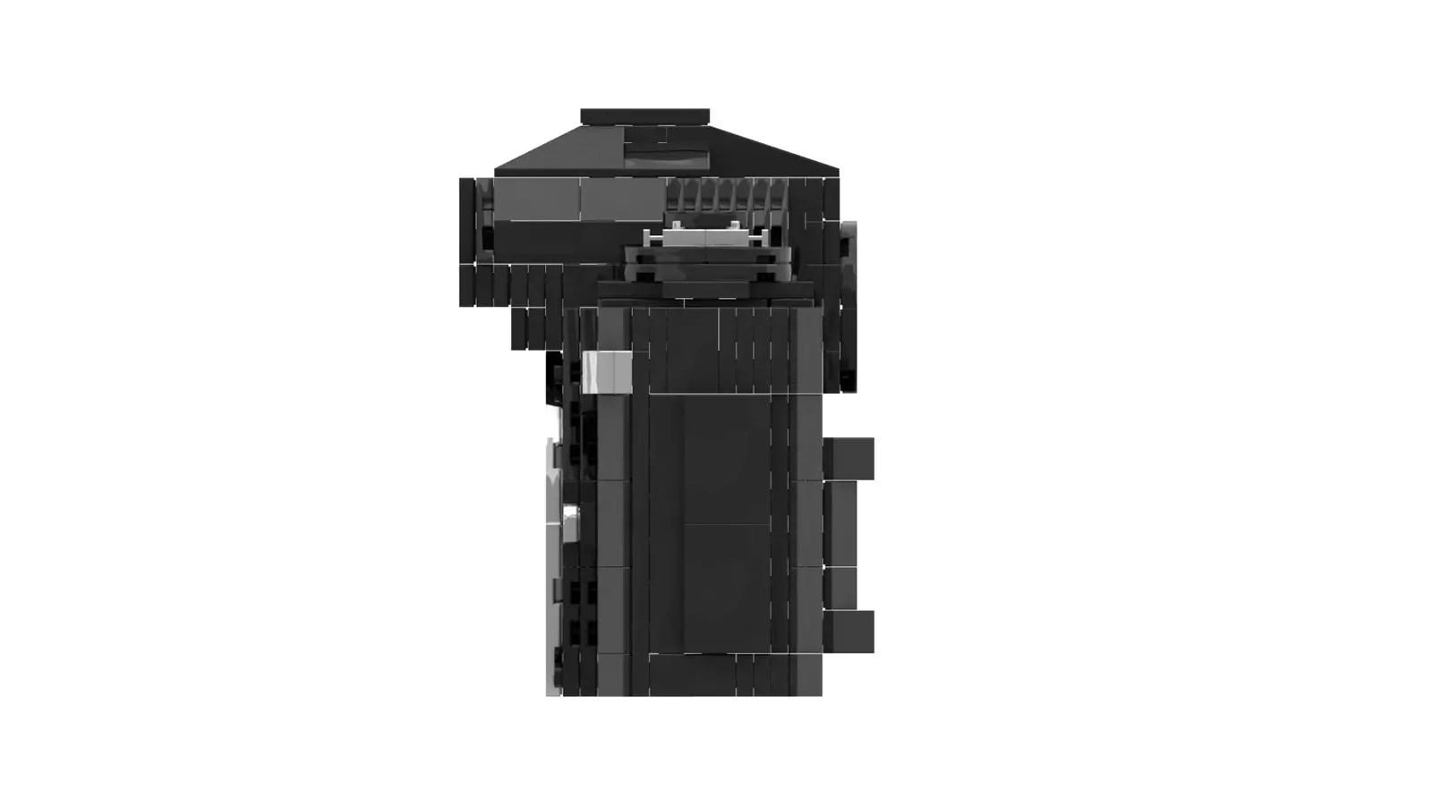 LEGO Nikon F3: Side (Credit: Ethan Brossard)