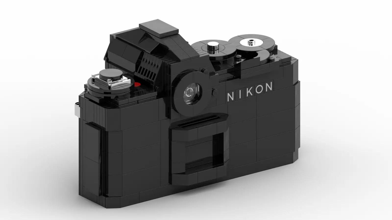 LEGO Nikon F3: Rear (Credit: Ethan Brossard)
