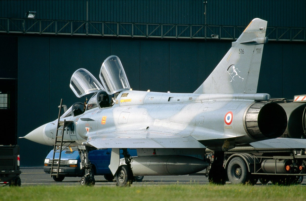 Mirage 2000 at the Reims air base 1992 - Nikon F5 + 300mm