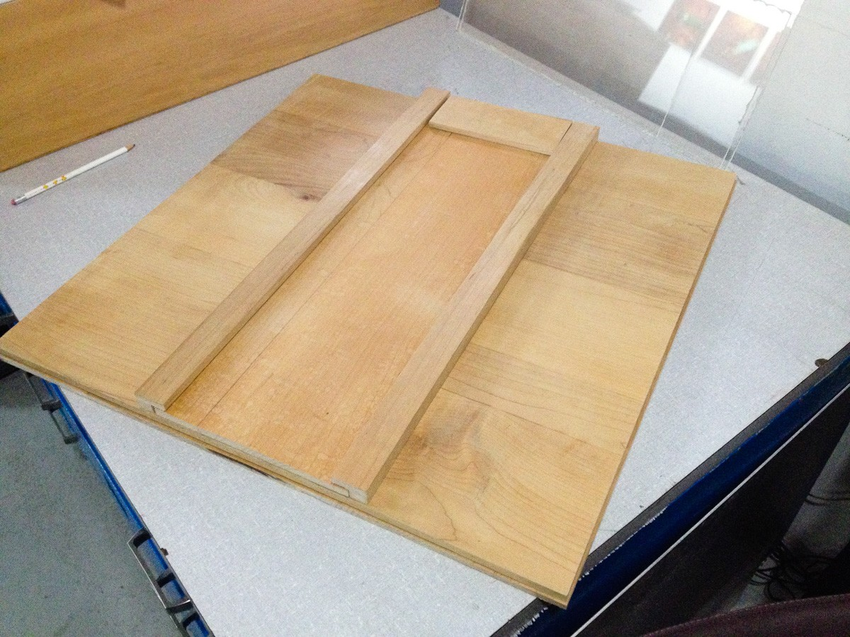 My original idea for the camera bed was to use maple, but these pieces ended up not really flat.