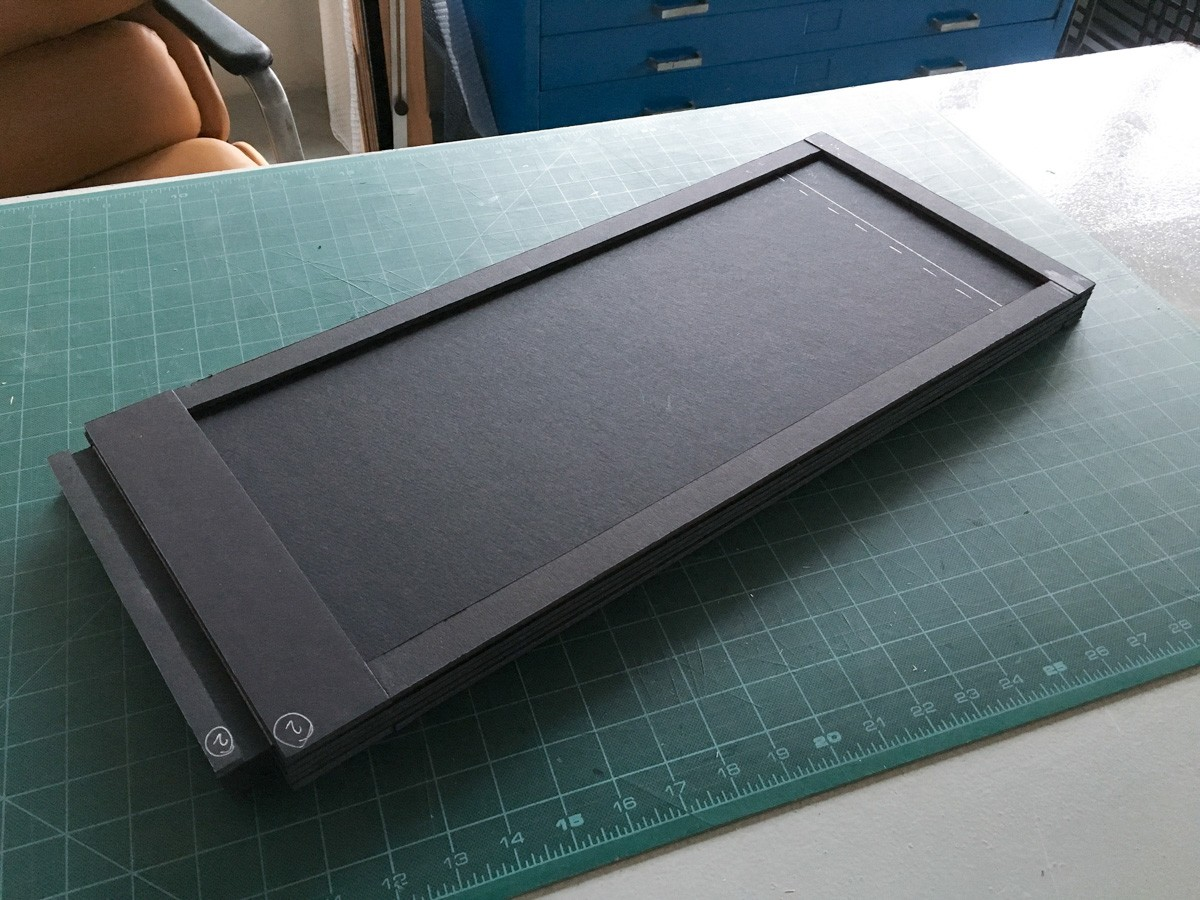 "First double-sided 8x20"" holder completed."