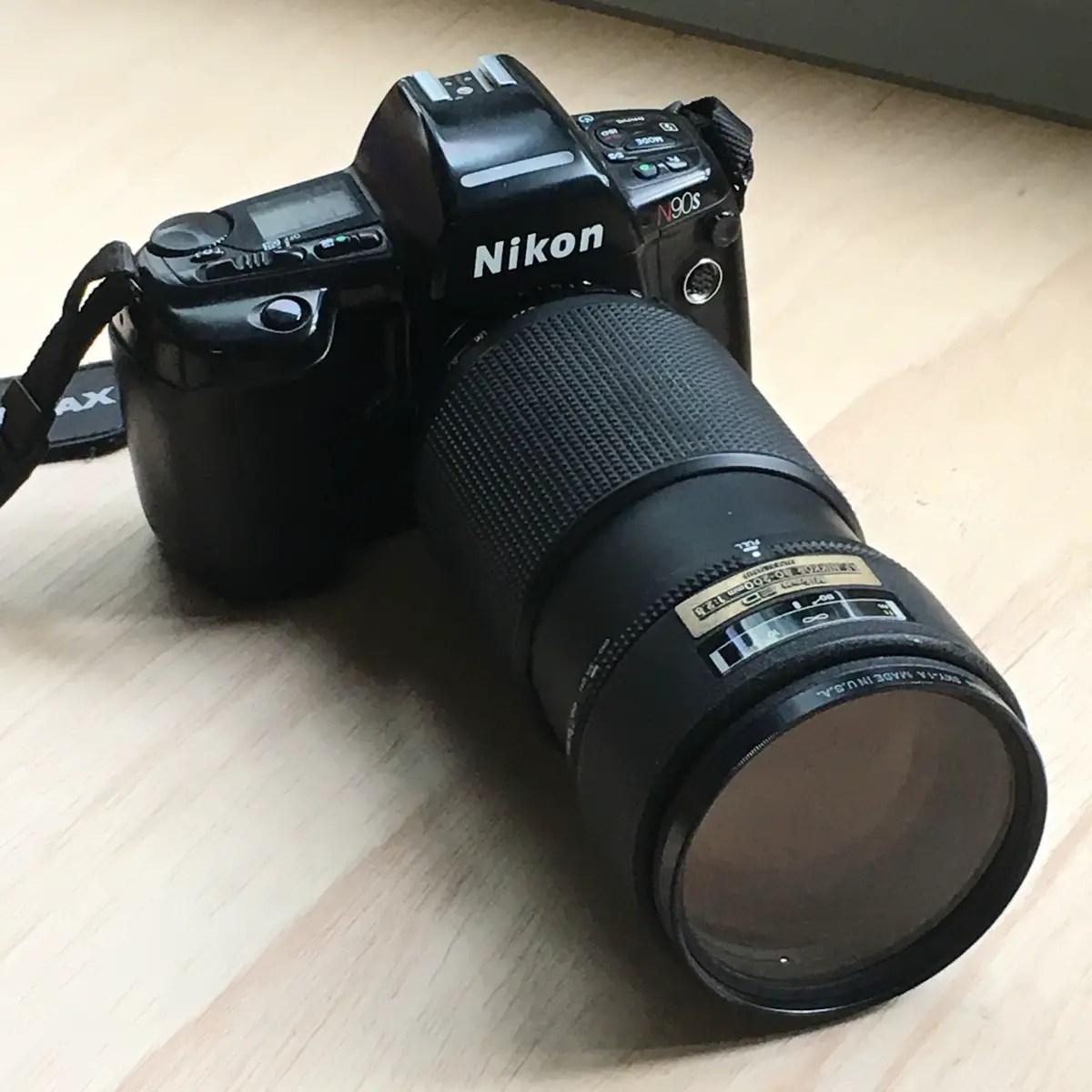 Nikon N90S and  Nikon 80-200mm f/2.8 AF lens