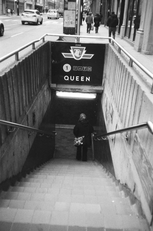 Queen Subway Entry - Fomapan 200 Creative and Olympus XA