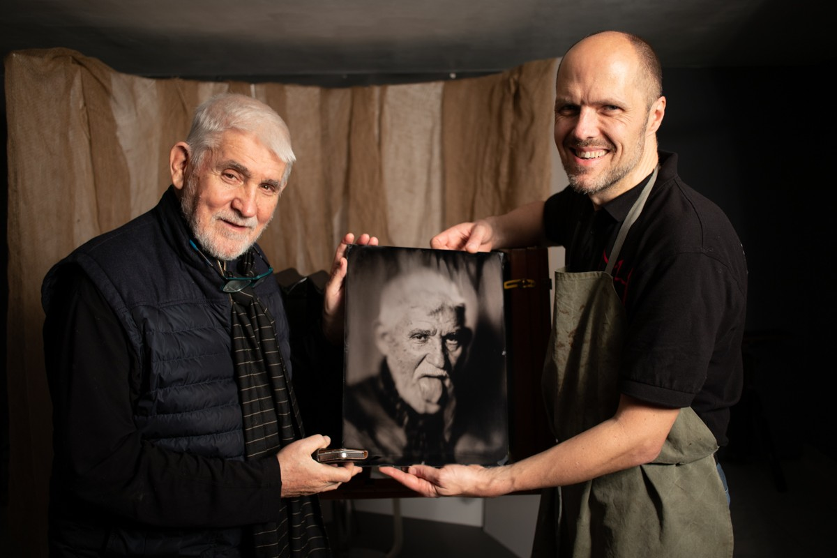 Wet plate with Prof Dr Sobotka