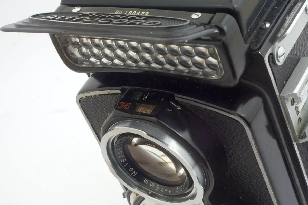 Minolta Autocord light meter with cover