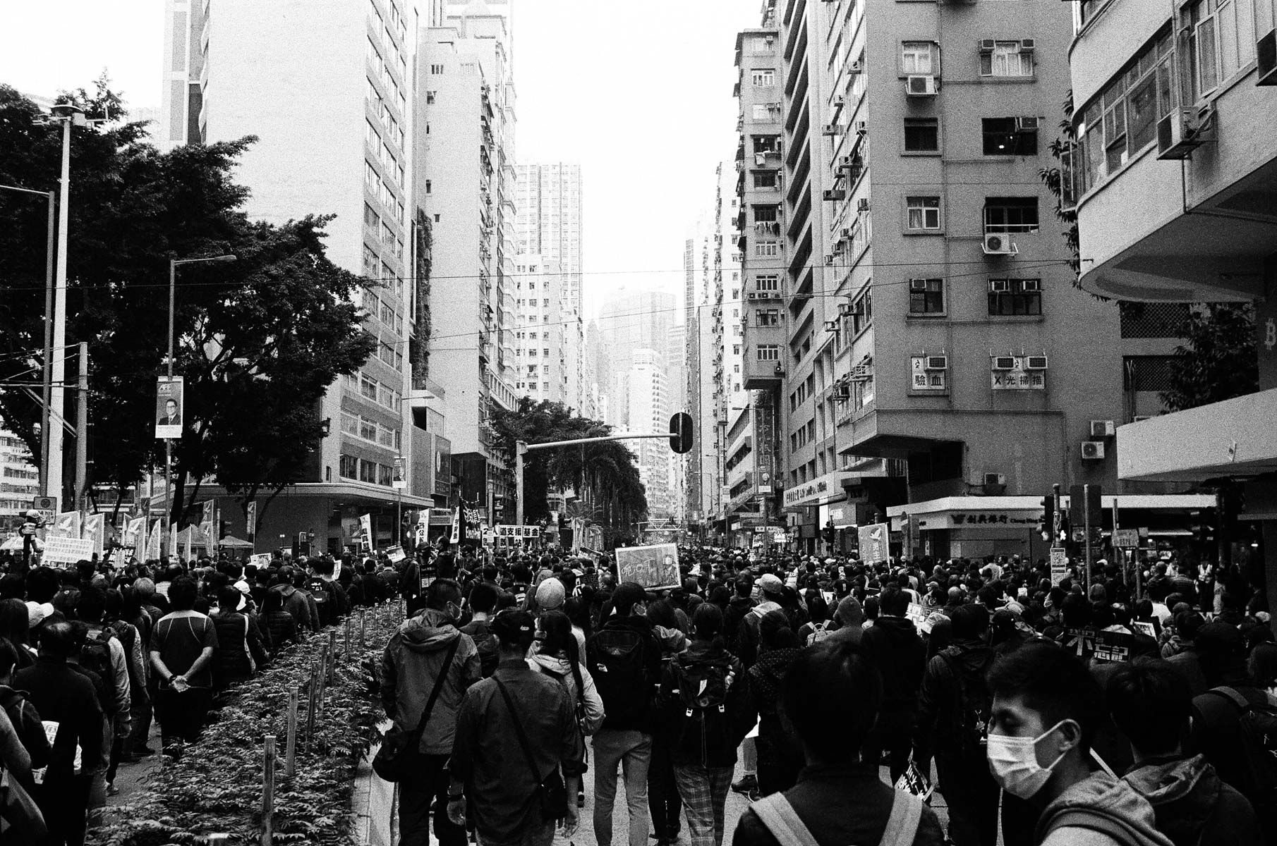 5 Frames... On New Year's Day 2020 in Hong Kong with ILFORD HP5 PLUS (EI 800 / 35mm format Nikon FM2) - by Nick Lumber