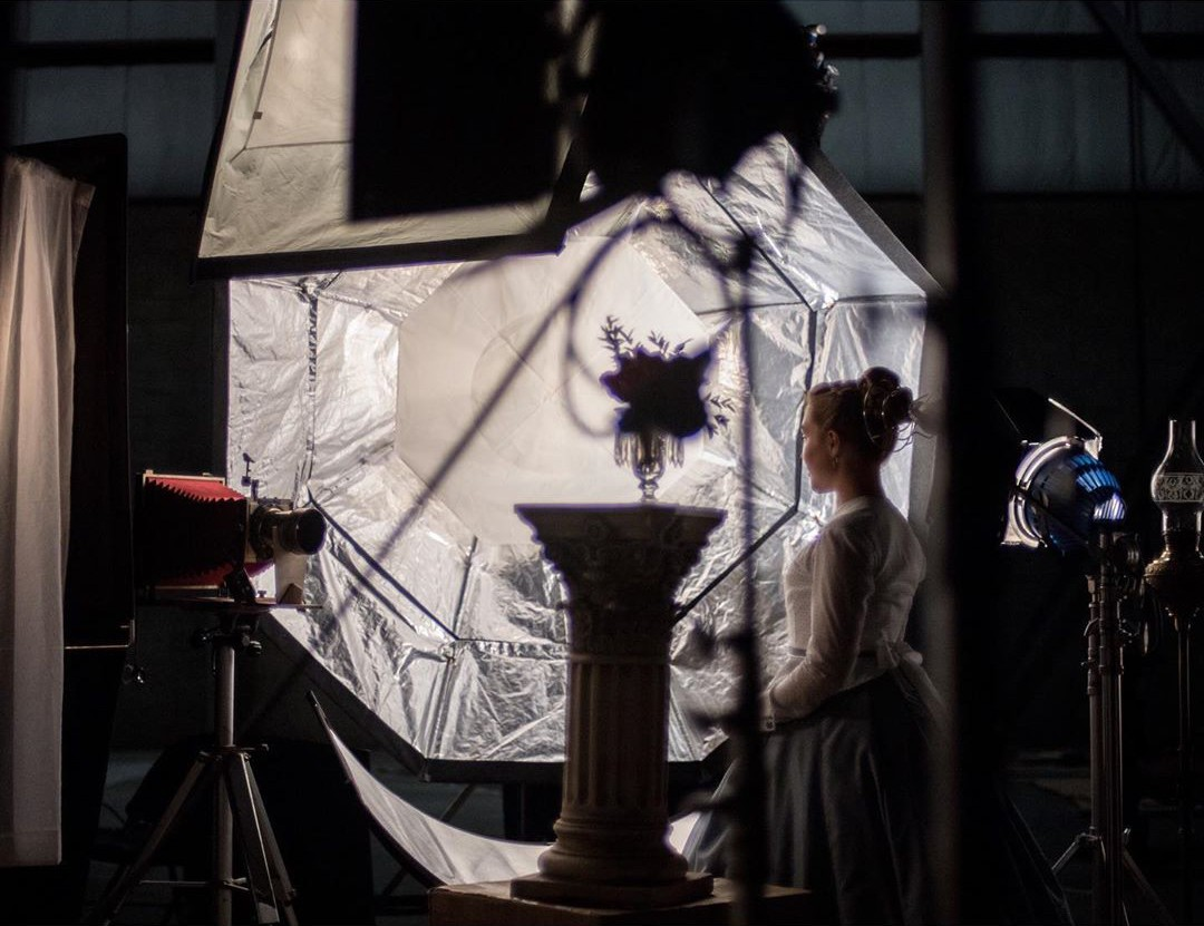 "BTS with the Intrepid 8x10 and Dallmeyer 3B 11"" f3 lens - Kimberly Scarsella, Little Women (2019)"