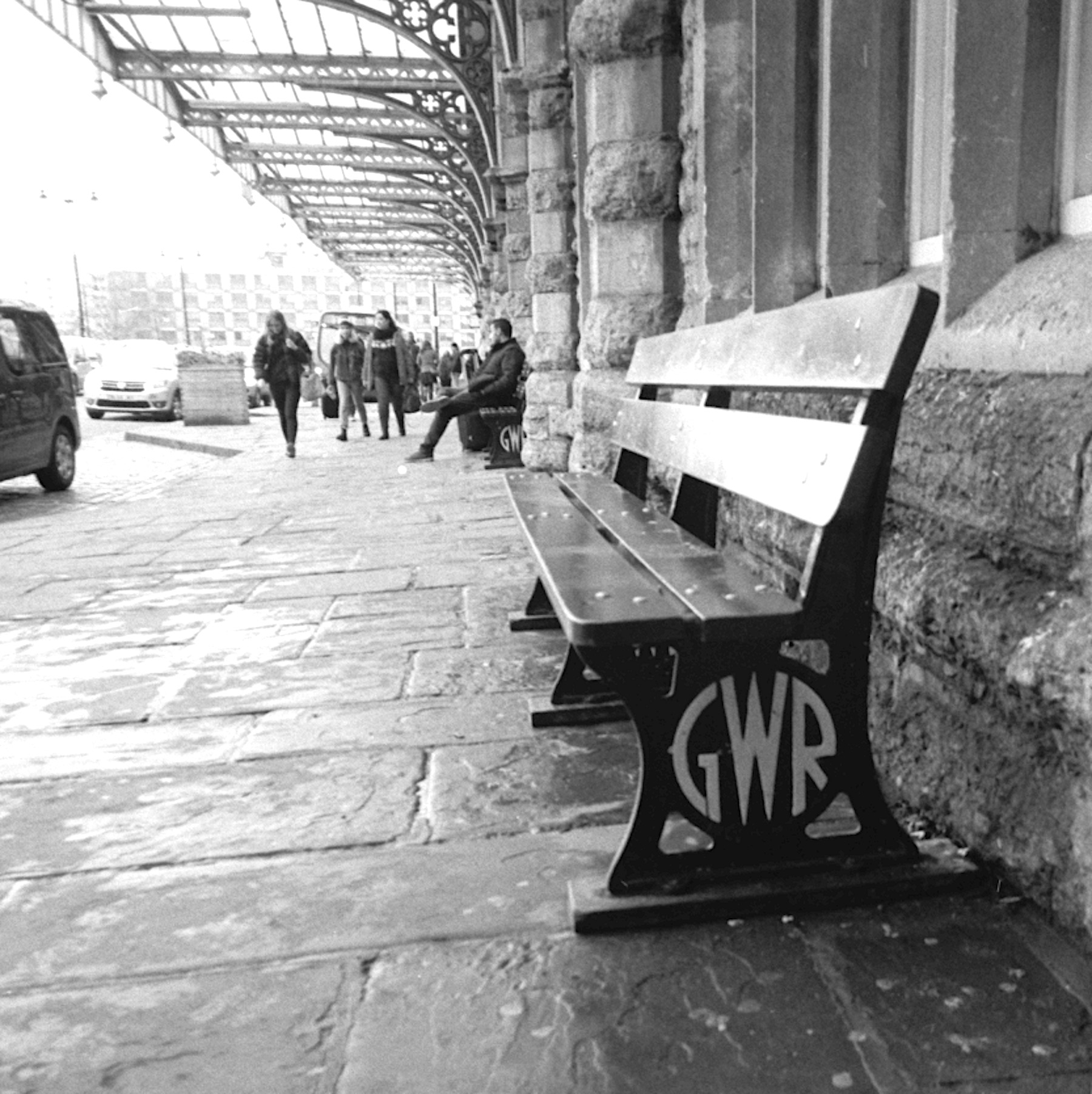 Bench - 5 Frames With... ILFORD HP5 PLUS (EI 400 / 35mm format / Leica M1) - by John Tarrant