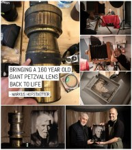Bringing a 160 year old giant Petzval lens back to life