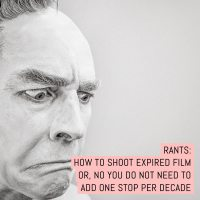 How to shoot expired film or, no you do not need to add one stop per decade