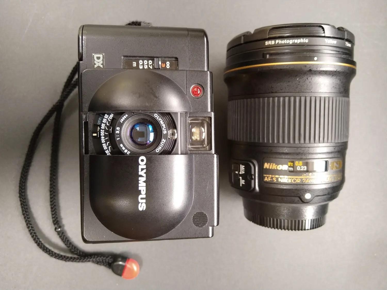 Olympus XA4 vs Nikon Nikkor 24mm f/1.8G