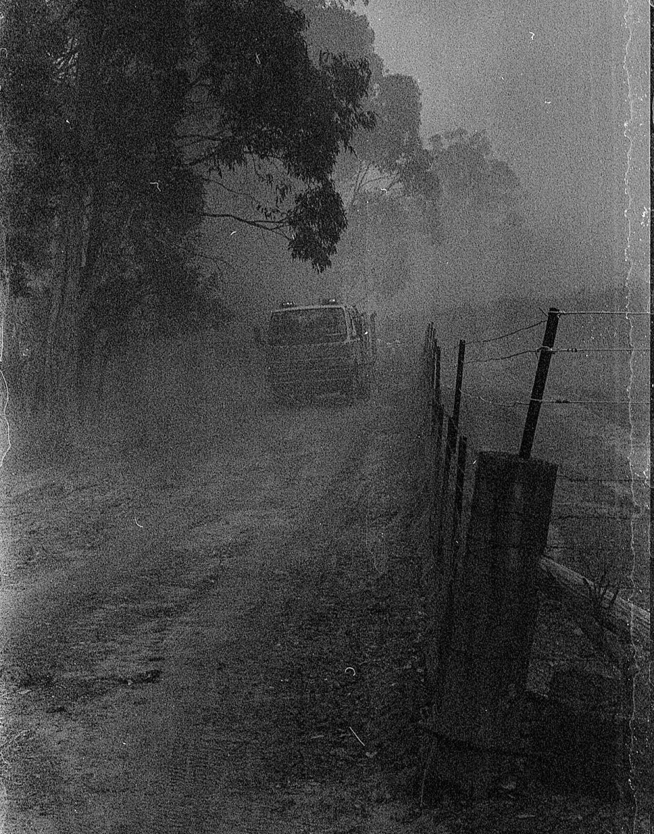 The Australian NSW bushfires on film - The mistake - Nikon F80, 60mm F,2.8, ILFORD HP5 PLUS at EI 1600 (stand developed in Rodinal)