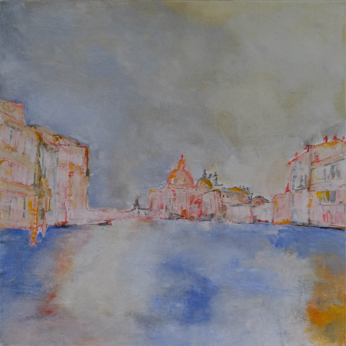 View of the Grand Canal from Academia. Oil painting on canvas.