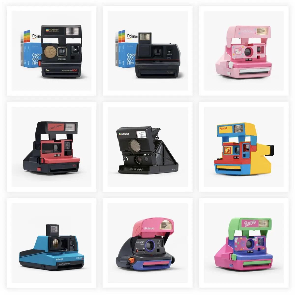 Polaroid 600 cameras. Credit: Polaroid.com