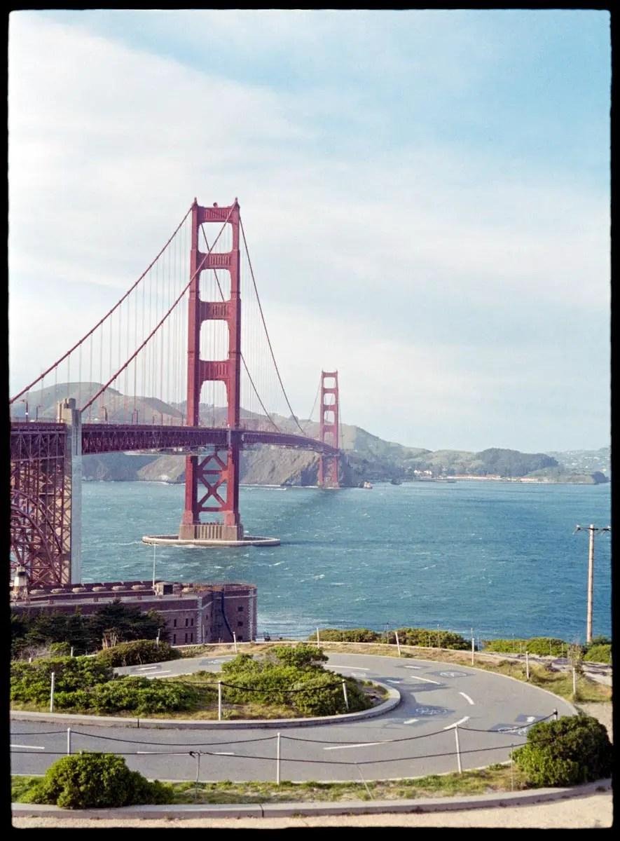Golden Gate Bridge - Canon Demi EE17, Fuji Superia 400