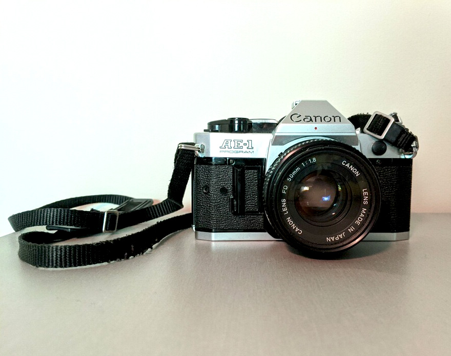 My old Canon AE-1, which now belongs to Martie Stothoff