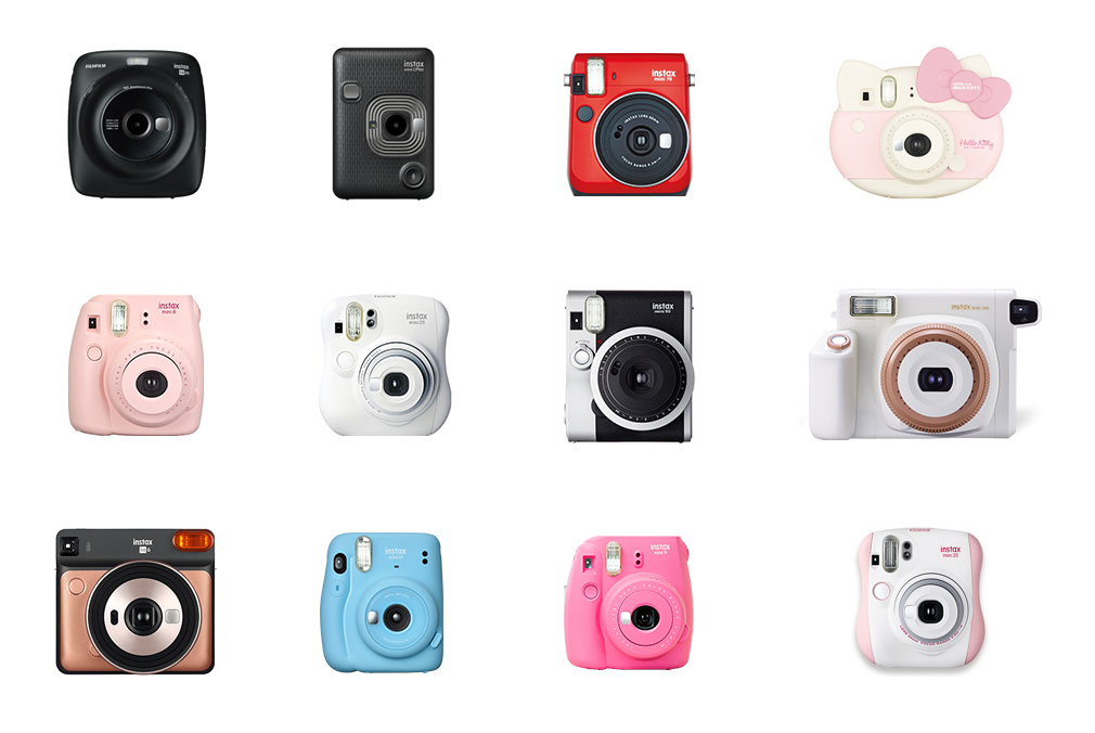 Instax Camera Family.  Image credit: Fujifilm Corporation.