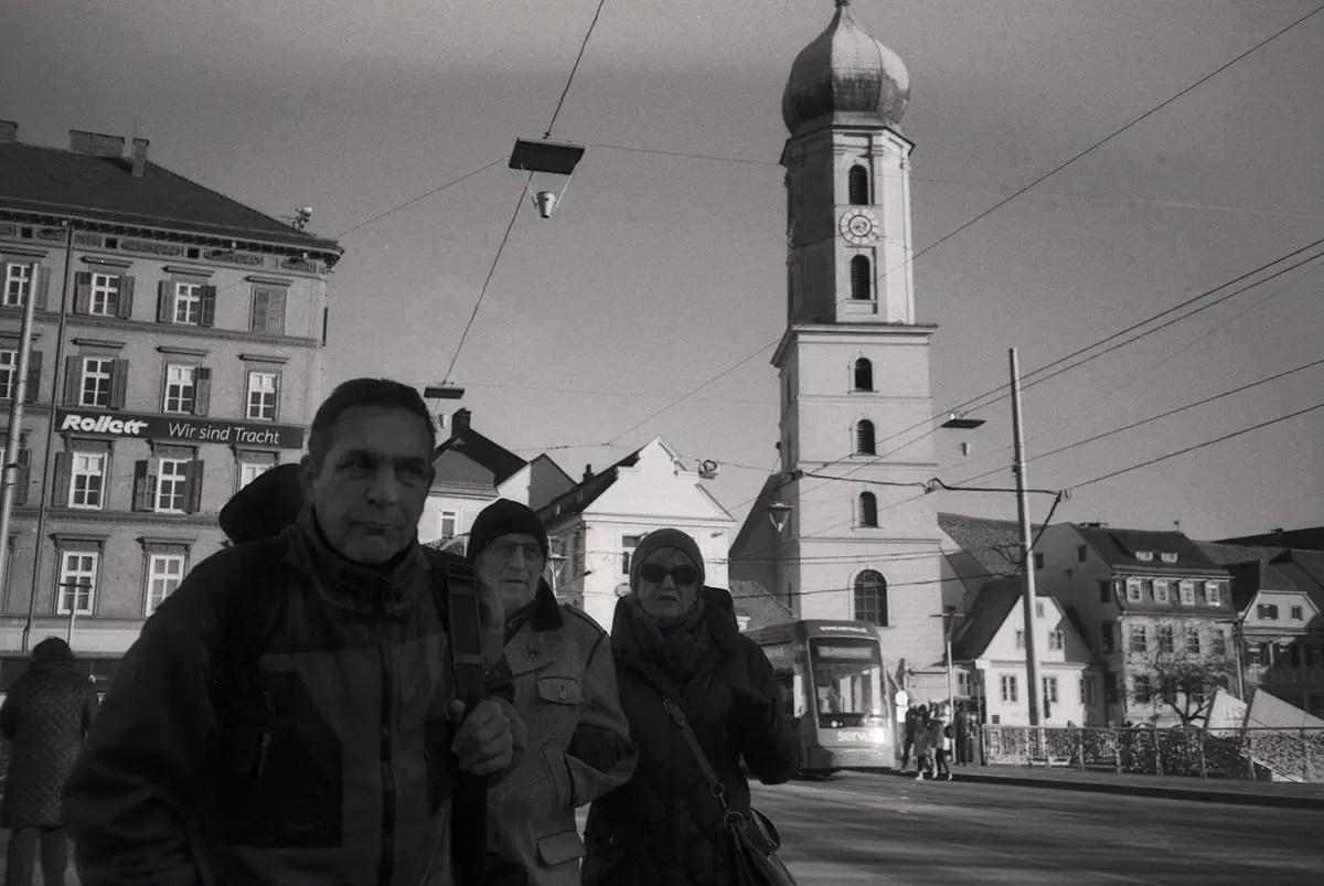 Olympus XA with ILFORD PAN 100 - Graz, Stadtbrücke - Gavin Lyons