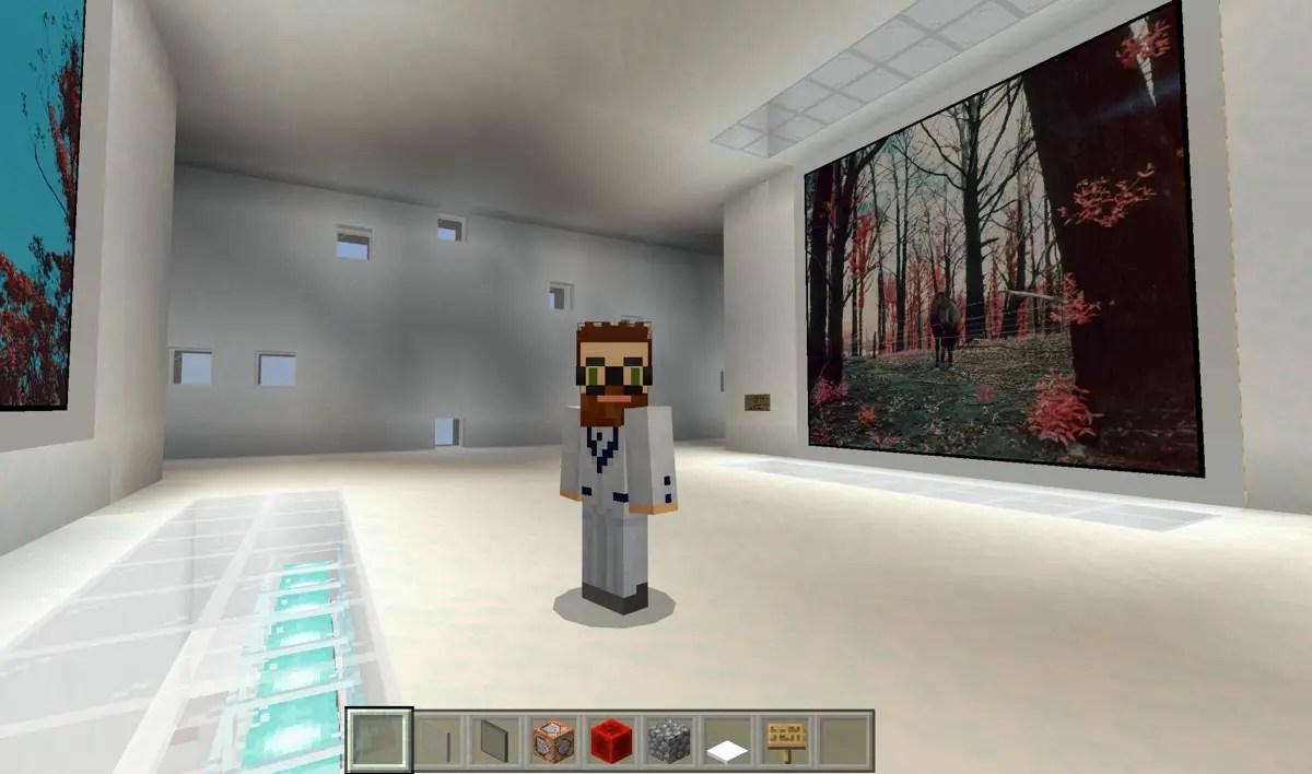 Dans la galerie d'art Minecraft