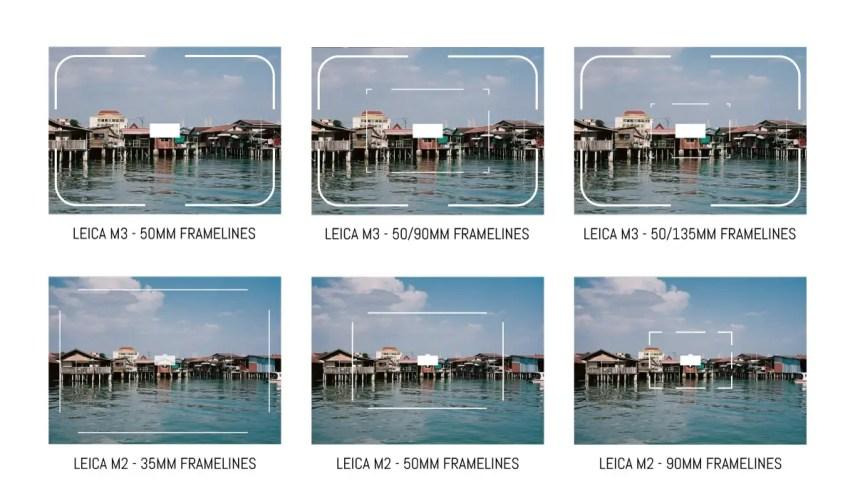Leica M3 vs M2 framelines