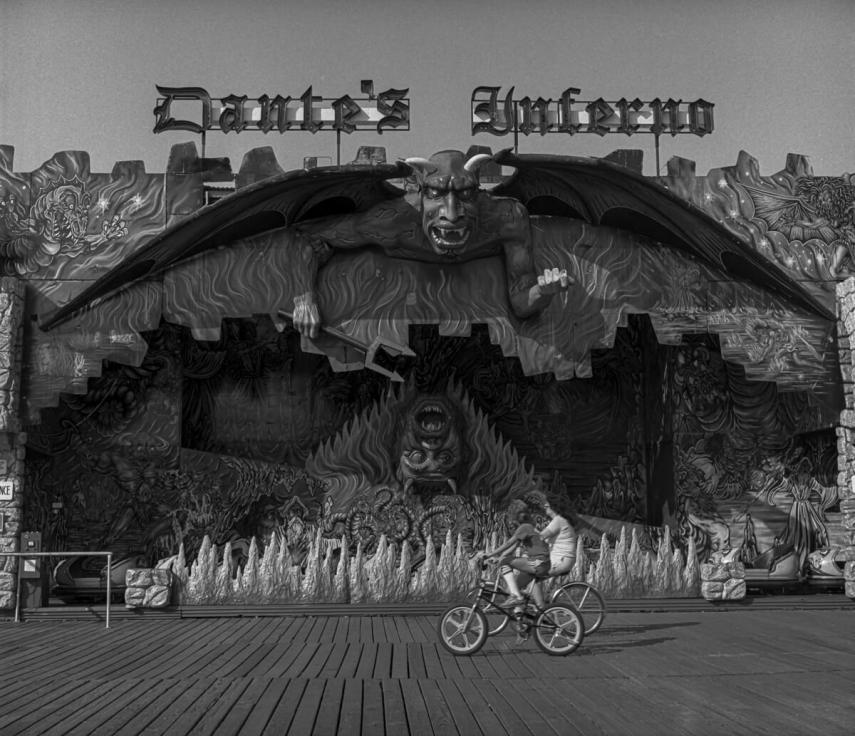 Dante's Inferno Wildwood, NJ 1986 - Yashica-mat 124G with Kodak Tri-X
