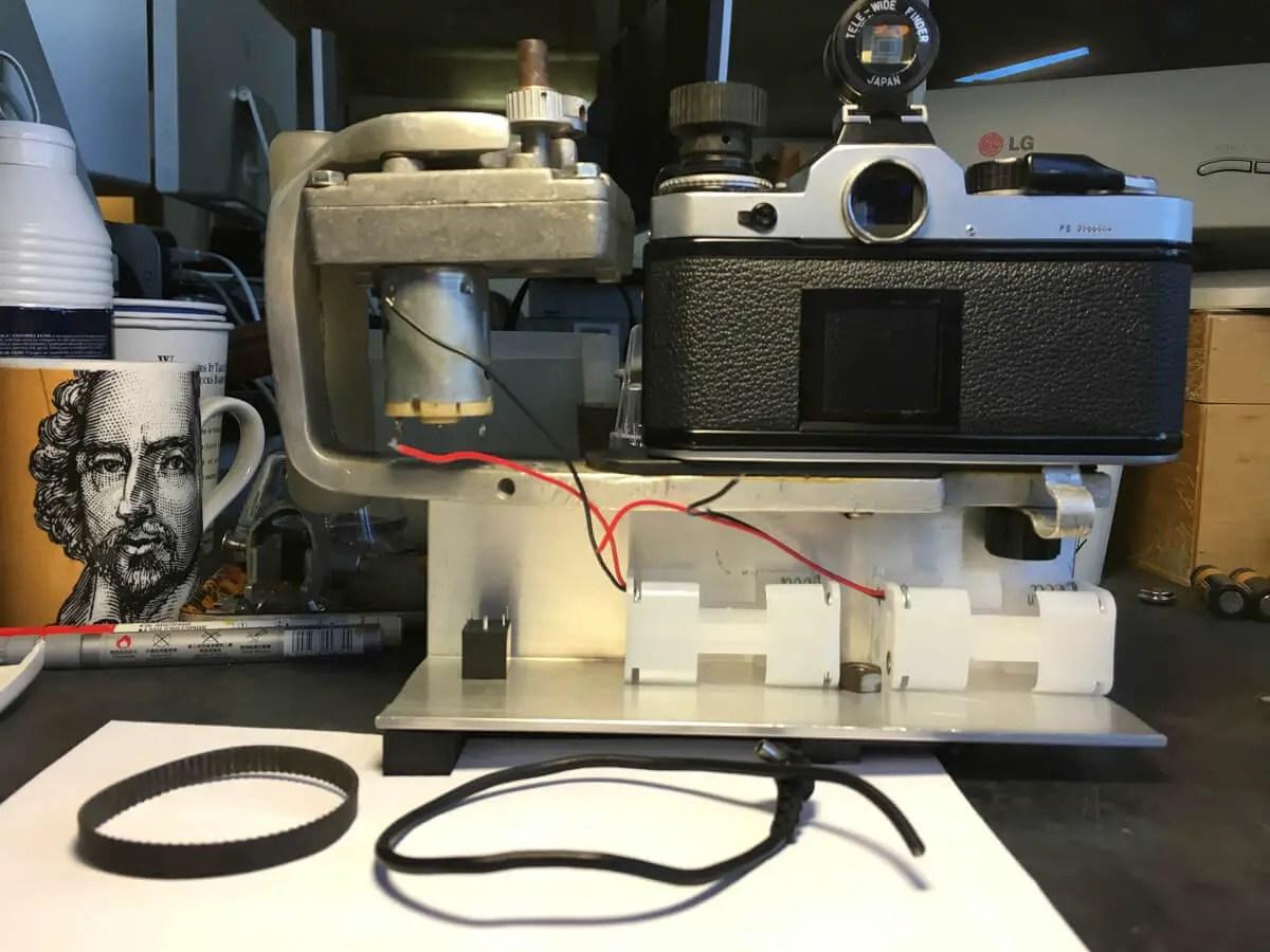 Building the Nikon FE Slit Scan camera