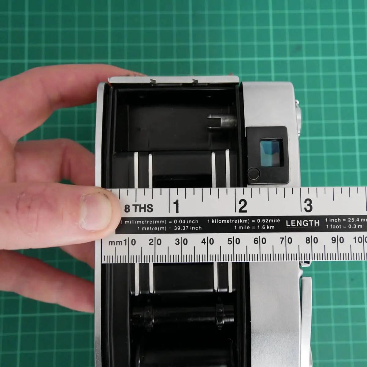 Camera Measurement - Fujifilm Instax Mini in a 35mm camera