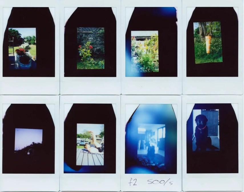 Collage - Fujifilm Instax Mini in a 35mm camera