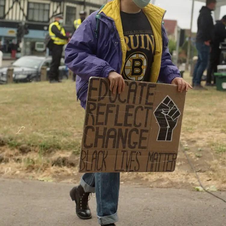 Educate, reflect, change - #BlackLivesMatter, Hitchin June 6th 2020