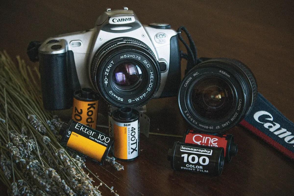 Lynn's Canon EOS 300, lenses and film