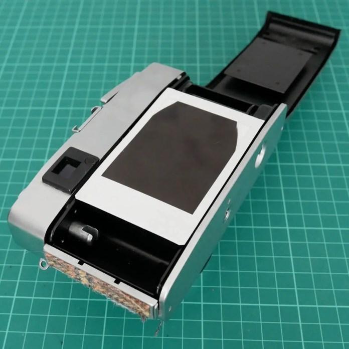 Placement in camera - Fujifilm Instax Mini in a 35mm camera