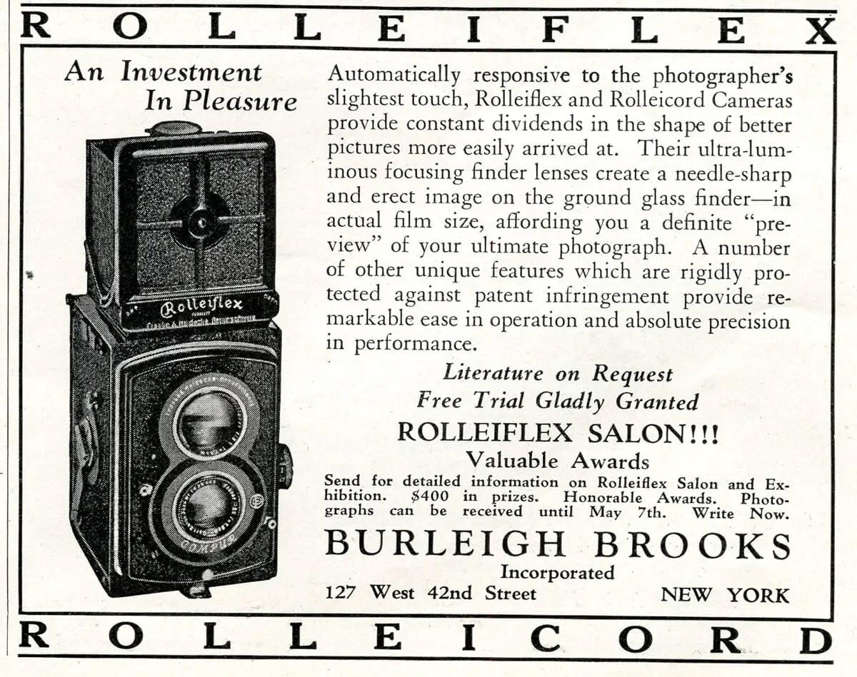 Popular Photo Issue 1, May 1937: Franke & Heidecke Advert