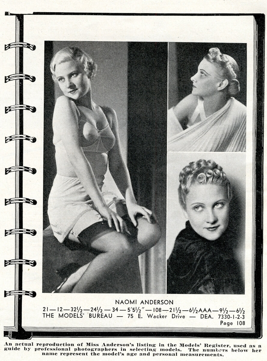 Popular Photo Issue 1, May 1937: Naomi Anderson Feature