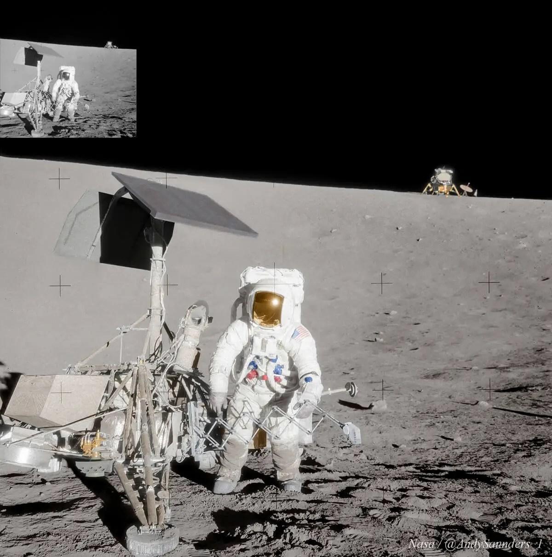 Apollo 12, Alan Bean's surveyor - Colour - Andy Saunders