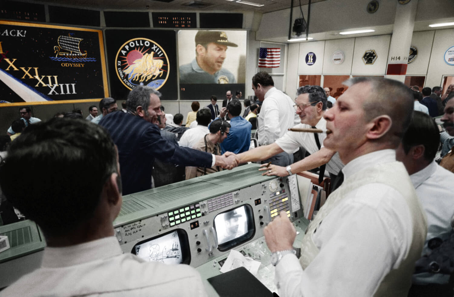 Apollo 13 Celebration - Colourised - Andy Saunders