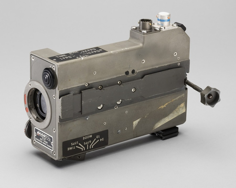 The Maurer 16mm DAC (Data Acquisition Camera). Credit: Smithsonian Institution. Source: National Air and Space Museum.