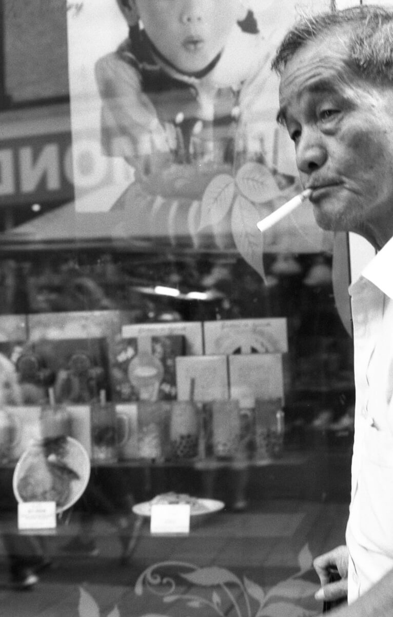 Smoker - Contax RTS with 50mm lens, Fomapan 200 Creative