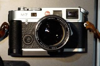 My Nikon Nikkor-P.C. 10.5 cm f:2.5 LTM and Leica M7, José Mendes de Almeida