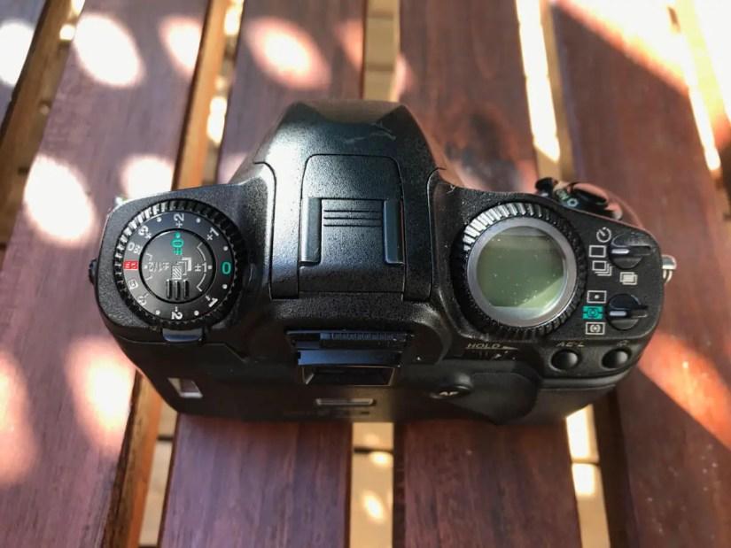 Pentax MZ-S top plate
