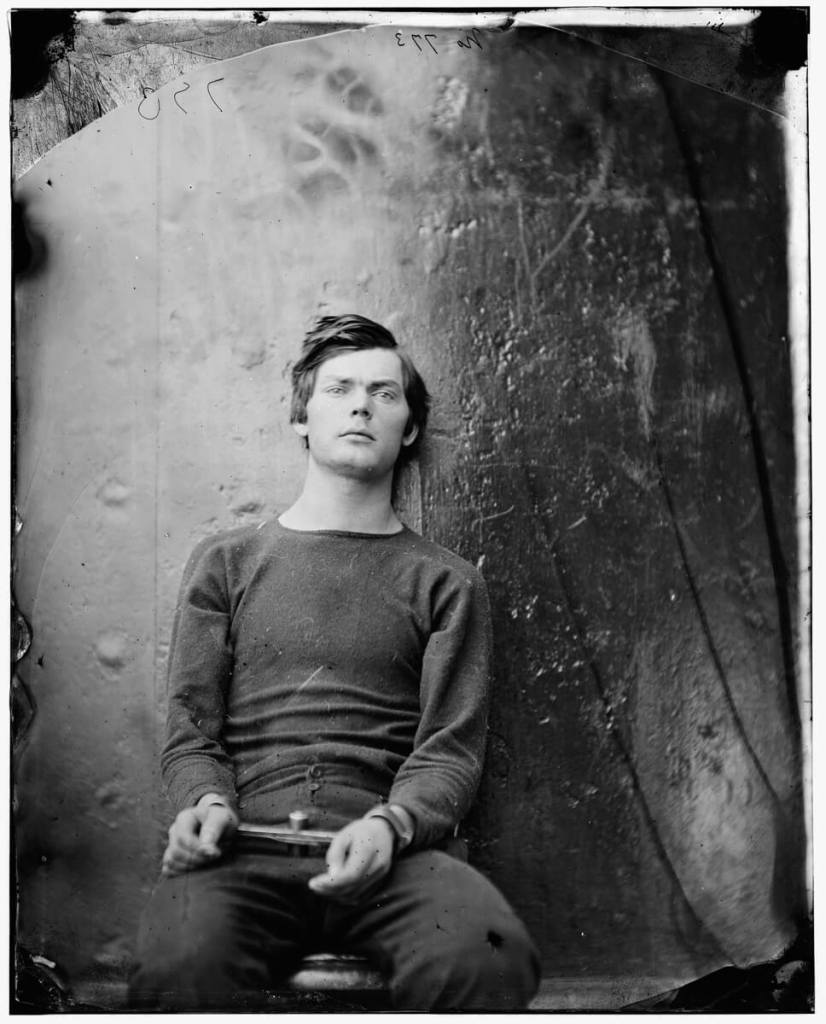 Lewis Powell, also known as Lewis Payne, photographed by Alexander Gardner onboard USS Saugus 1865 - Image credit: commons.wikimedia.org