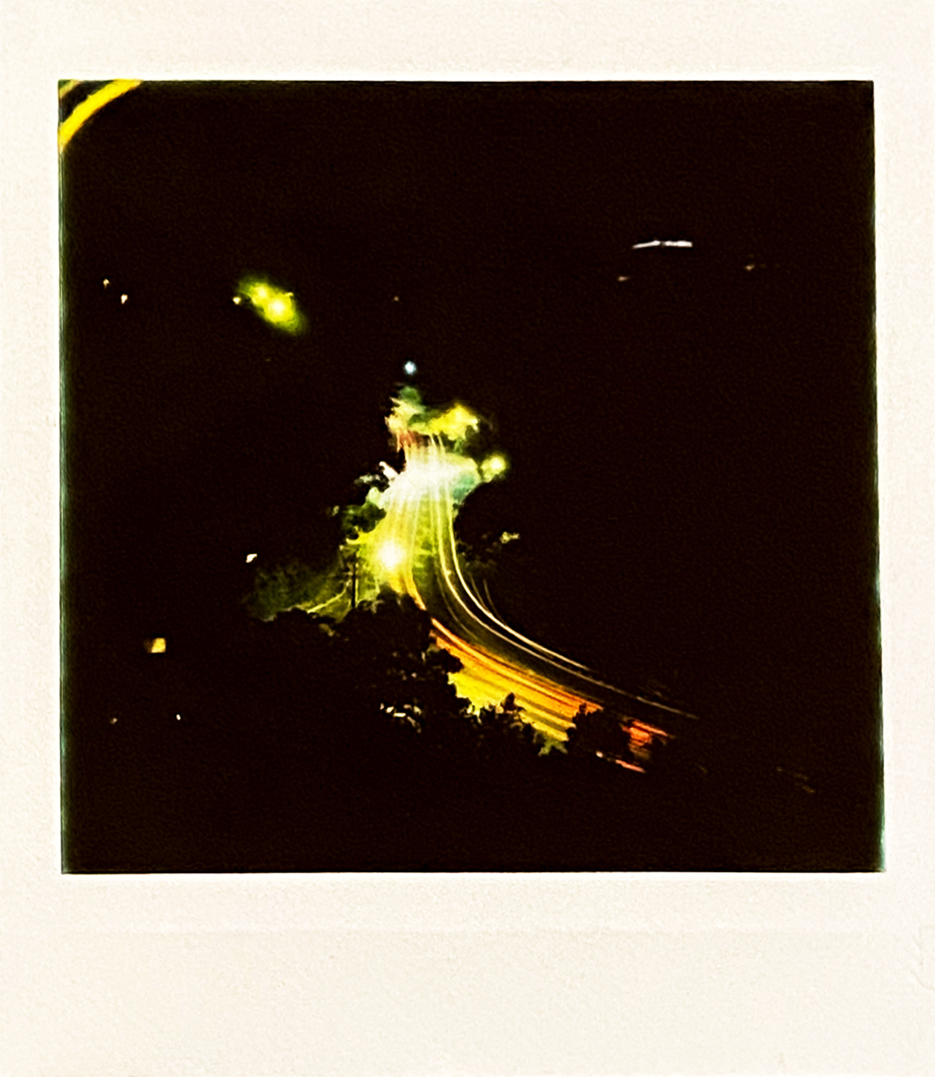 Low Light Road - Lomography Diana Instant Square and Fujifilm Instant Square film