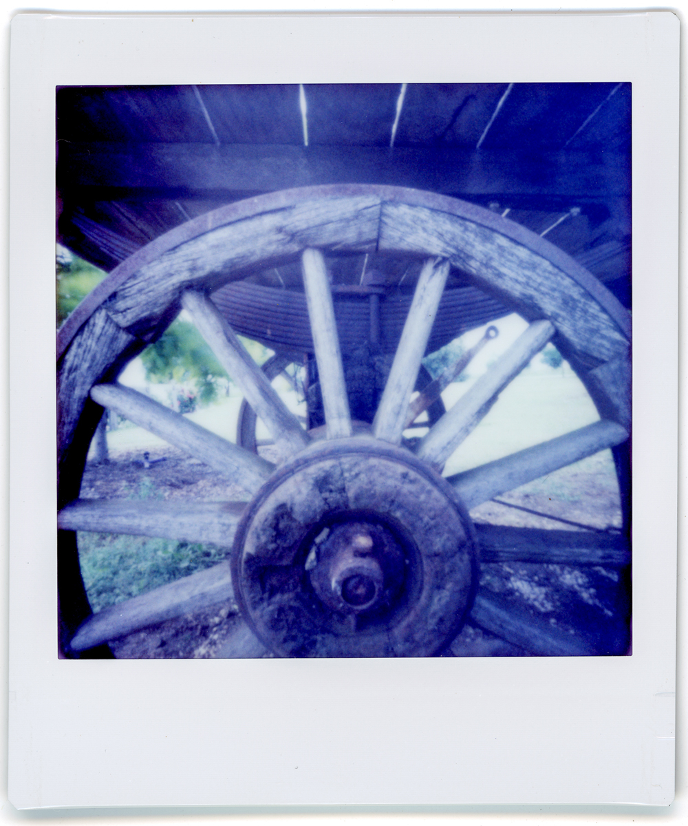 Wagon Wheel - Lomography Diana Instant Square and Fujifilm Instant Square film