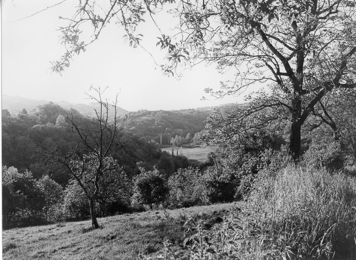 1980 - Landscape, as seen from the village of Serilhac